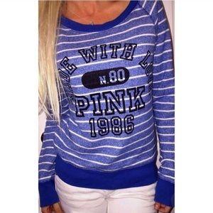 Victoria's Secret PINK Striped Pullover Small